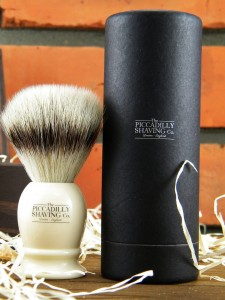 Pędzel do golenia PICCADILLY SHAVING Co. Silvertip Fibre