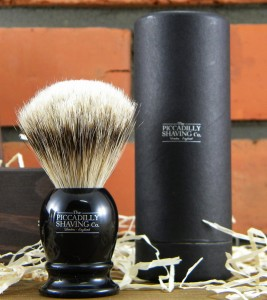 Pędzel do golenia PICCADILLY SHAVING Co.Super Badger, czarny.