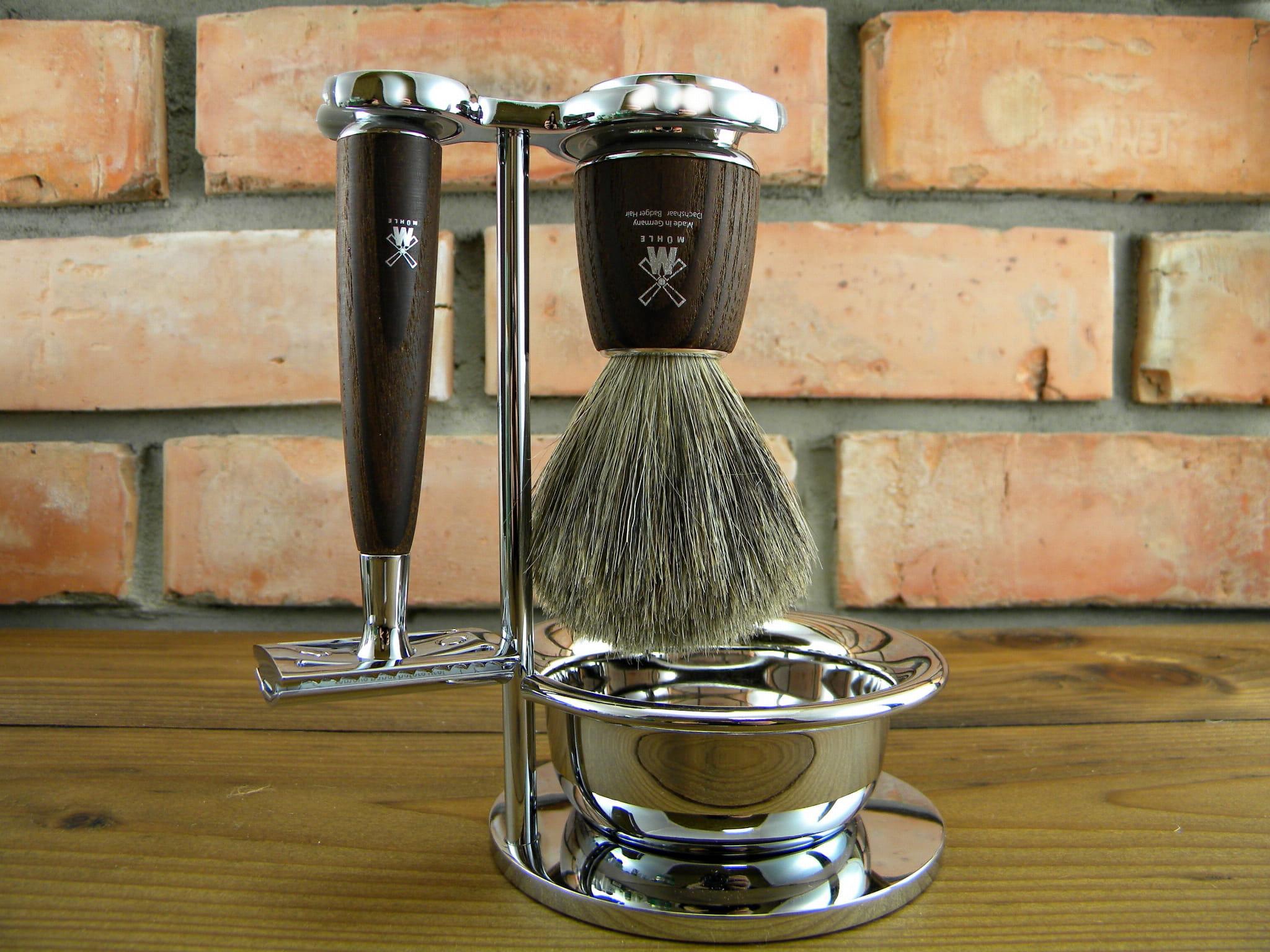 Zestaw tradycyjny do golenia MÜHLE RYTMO S81H220SSR , jesion