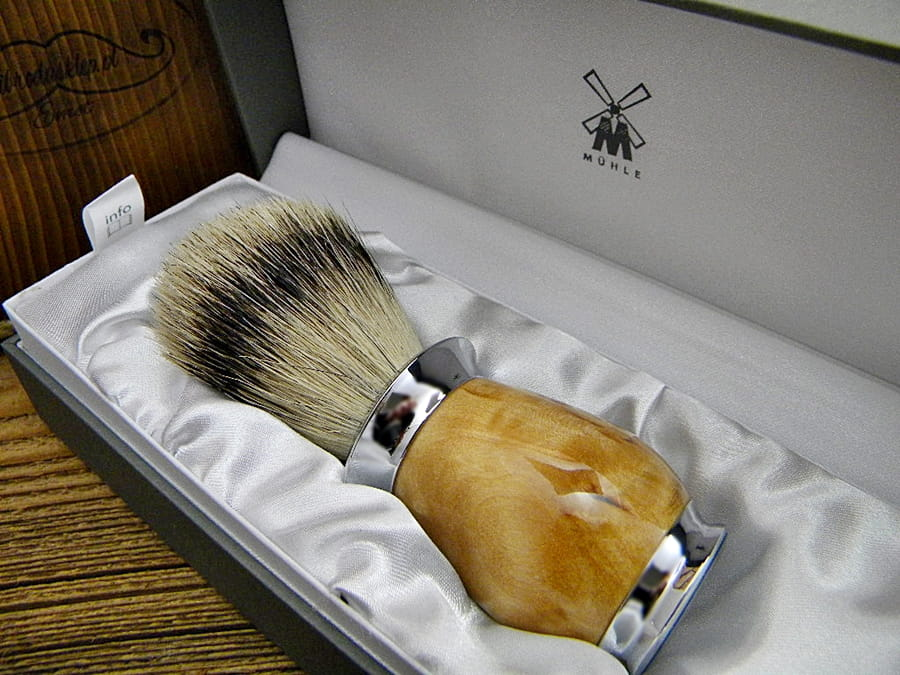 Pędzel do golenia MÜHLE PURIST 091H55 silvertip Brzoza Karelska