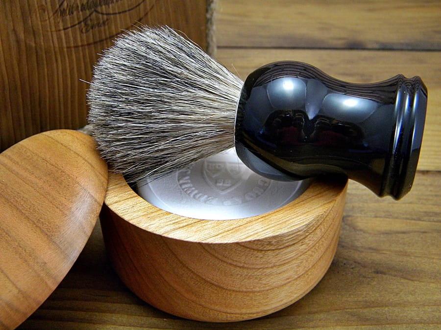 Tygiel, miseczka na mydło do golenia CZEREŚNIA