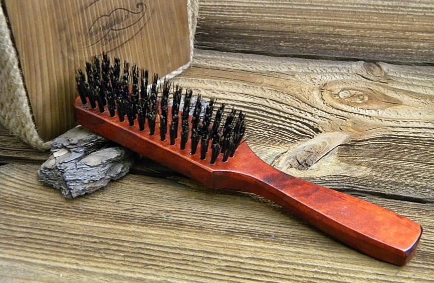 Szczotka do włosów z rączką - 100% włosie z dzika.
