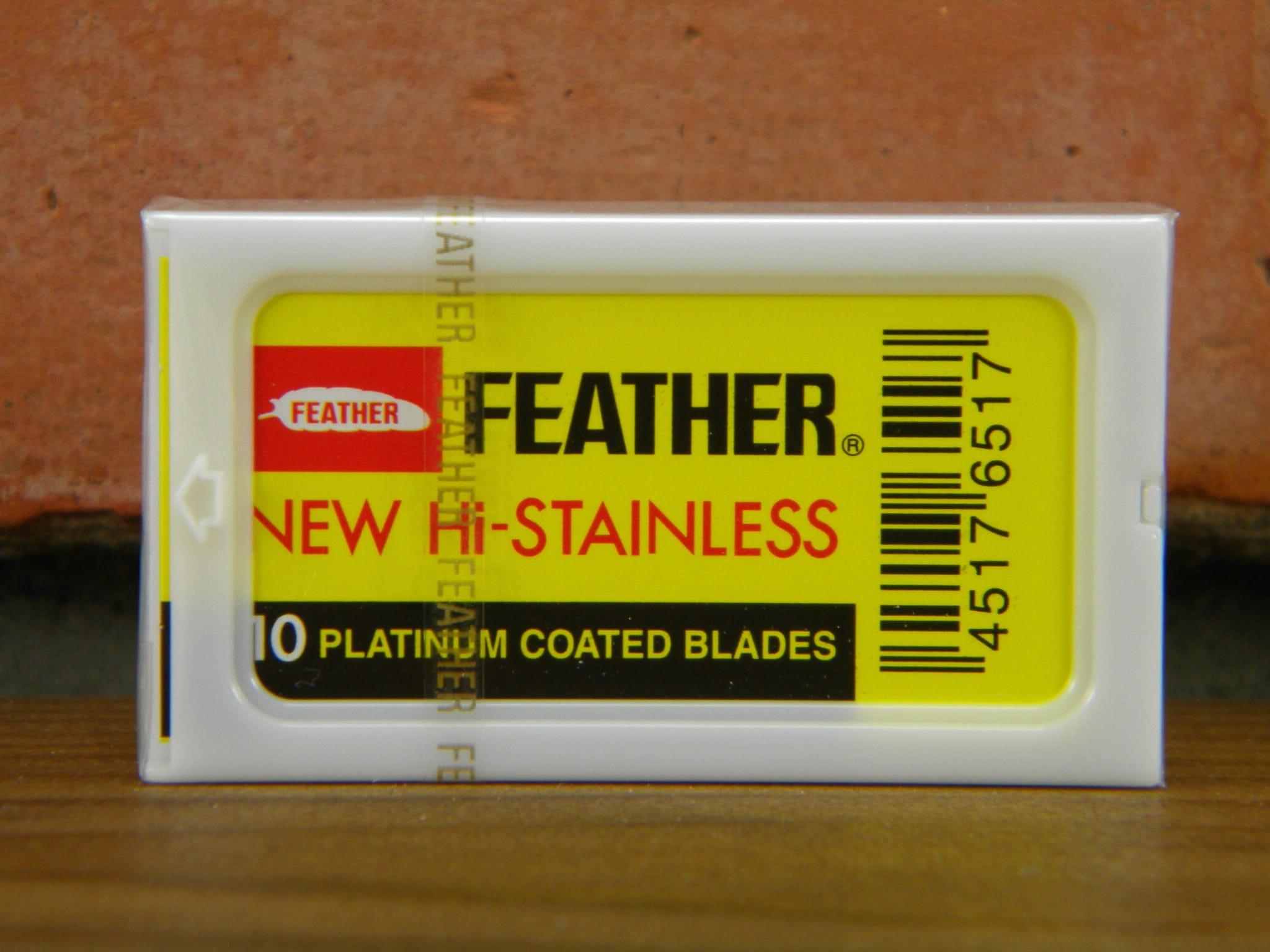 Żyletki FEATHER 81s Platinum żółte 10 szt.